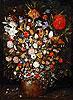 Flowers in a Wooden Vessel | Jan Bruegel the Elder