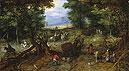 A Woodland Road with Travelers | Jan Bruegel the Elder