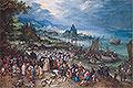 Harbour Scene with Christ preaching | Jan Bruegel the Elder