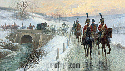 Napoleon's Entry Into Berlin, Undated | Jan van Chelminski | Painting Reproduction
