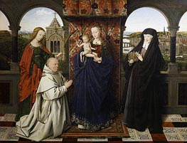 Virgin and Child, with Saints and Donor, c.1441 by Jan van Eyck | Painting Reproduction