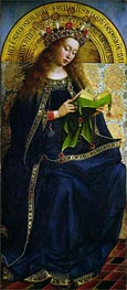 The Virgin Mary (The Ghent Altarpiece), 1432 by Jan van Eyck | Painting Reproduction