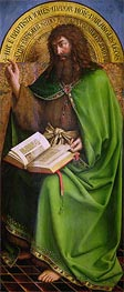 John the Baptist (The Ghent Altarpiece), 1432 by Jan van Eyck | Painting Reproduction