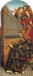 Angels Playing Music (The Ghent Altarpiece), 1432 by Jan van Eyck | Painting Reproduction