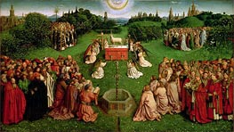 The Adoration of the Mystic Lamb (The Ghent Altarpiece), 1432 by Jan van Eyck | Painting Reproduction