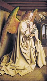 The Angel Gabriel passes the Message to Maria (The Ghent Altarpiece), 1432 by Jan van Eyck | Painting Reproduction