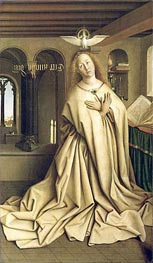 Virgin Annunciate (The Ghent Altarpiece), 1432 by Jan van Eyck | Painting Reproduction