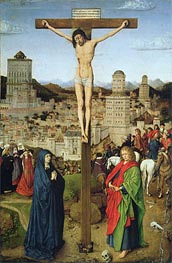 The Crucifixion, Undated by Jan van Eyck | Painting Reproduction