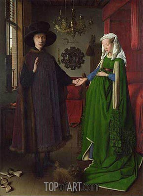 The Arnolfini Portrait, 1434 | Jan van Eyck | Painting Reproduction
