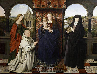 Virgin and Child, with Saints and Donor, c.1441 | Jan van Eyck| Gemälde Reproduktion