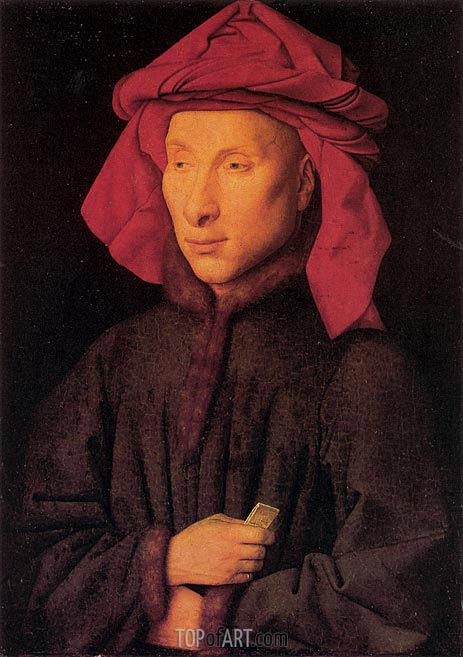 Portrait of Giovanni Arnolfini, c.1438 | Jan van Eyck | Painting Reproduction