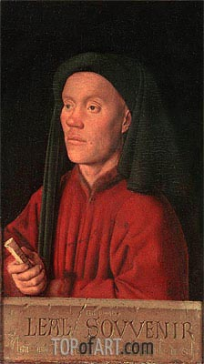 Portrait of a Man (Leal Souvenir), 1432 | Jan van Eyck | Painting Reproduction