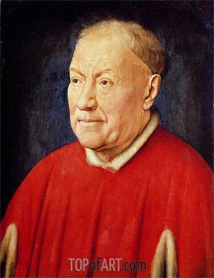 Cardinal Niccolo Albergati, c.1435 | Jan van Eyck | Painting Reproduction
