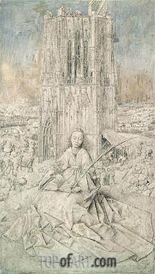 St. Barbara, 1437 | Jan van Eyck| Painting Reproduction