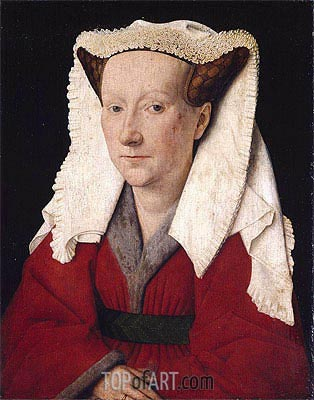 Portrait of Margareta van Eyck, 1439 | Jan van Eyck | Painting Reproduction