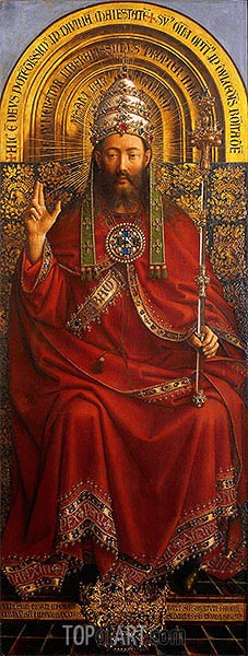Christ, God the Father (Ghent Altarpiece),  | Jan van Eyck | Painting Reproduction