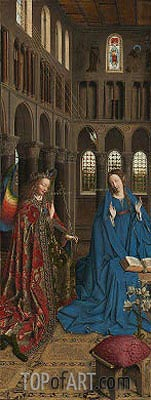 The Annunciation, c.1434/36 | Jan van Eyck| Painting Reproduction
