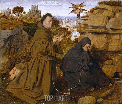 Saint Francis of Assisi Receiving the Stigmata, c.1438/40 | Jan van Eyck | Painting Reproduction
