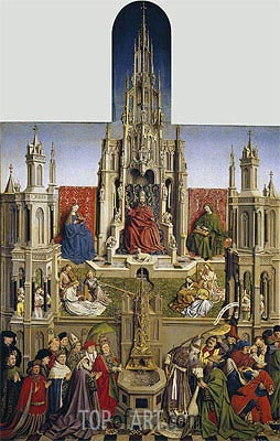 The Fountain of Grace and the Triumph of the Church over the Synagogue, 1430 | Jan van Eyck| Painting Reproduction