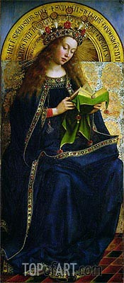 The Virgin Mary (The Ghent Altarpiece), 1432 | Jan van Eyck| Painting Reproduction