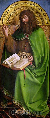 John the Baptist (The Ghent Altarpiece), 1432 | Jan van Eyck| Gemälde Reproduktion
