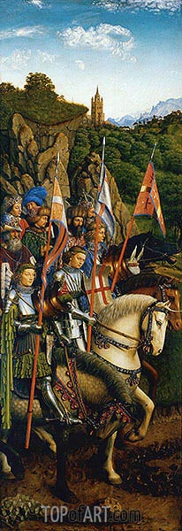 Jan van Eyck | The Knights of Christ (The Ghent Altarpiece), 1432