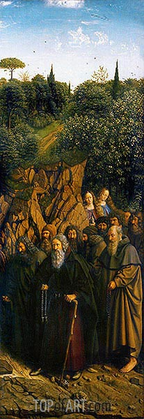 Jan van Eyck | The Hermits (The Ghent Altarpiece), 1432