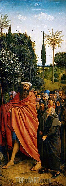 The Pilgrims (The Ghent Altarpiece), 1432 | Jan van Eyck| Painting Reproduction