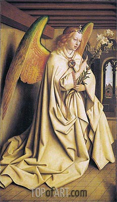 Jan van Eyck | The Angel Gabriel passes the Message to Maria (The Ghent Altarpiece), 1432