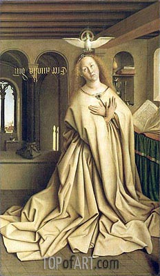 Virgin Annunciate (The Ghent Altarpiece), 1432 | Jan van Eyck| Gemälde Reproduktion