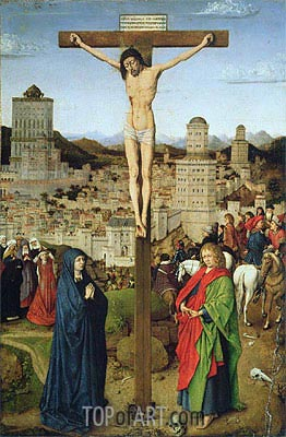 The Crucifixion,  | Jan van Eyck| Painting Reproduction