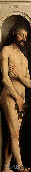 Jan van Eyck | Adam (The Ghent Altarpiece), 1432