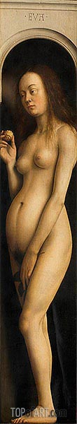 Eve (The Ghent Altarpiece), 1432 | Jan van Eyck | Gemälde Reproduktion