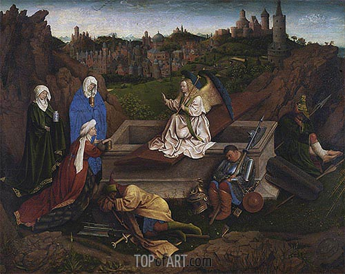 Jan van Eyck | The Three Marys at the Tomb, c.1425/35