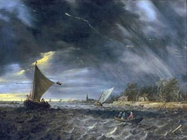 The Thunderstorm, 1641 by Jan van Goyen | Painting Reproduction