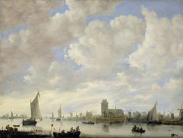 View of the Merwede off Dordrecht, c.1660 by Jan van Goyen | Painting Reproduction
