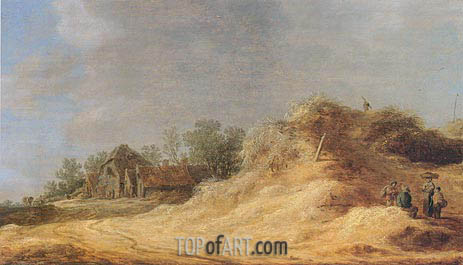 Dunes, 1629 | Jan van Goyen | Painting Reproduction