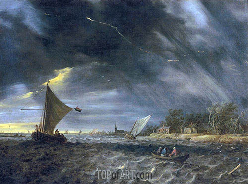 The Thunderstorm, 1641 | Jan van Goyen | Painting Reproduction