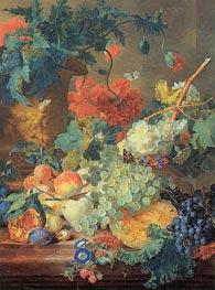 Früchte und Blumen, c.1720 von Jan van Huysum | Gemälde-Reproduktion