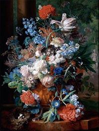 Bouquet of Flowers Against a Park Landscape | Jan van Huysum | outdated