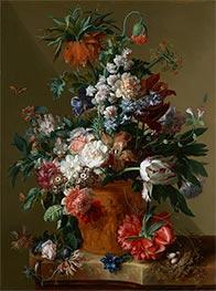 Vase of Flowers, 1722 by Jan van Huysum | Painting Reproduction