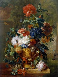 Flowers | Jan van Huysum | Painting Reproduction