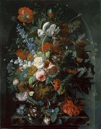Vase of Flowers in a Niche | Jan van Huysum | Painting Reproduction