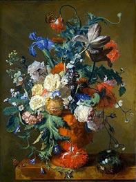 Flowers in an Urn | Jan van Huysum | Painting Reproduction