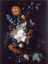 Still Life of Flowers and Fruit | Jan van Huysum | Painting Reproduction