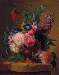 Flower Piece, 1740 von Jan van Huysum | Gemälde-Reproduktion