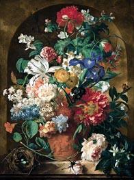 Still Life of Flowers, 1734 von Jan van Huysum | Gemälde-Reproduktion