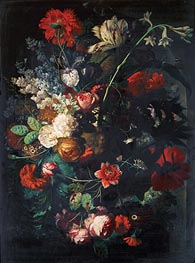 Vase with Flowers on a Socle   Jan van Huysum   Painting Reproduction
