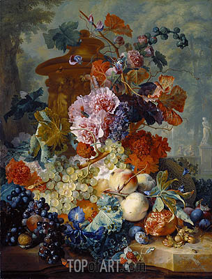 Fruit Piece, 1722 | Jan van Huysum | Painting Reproduction