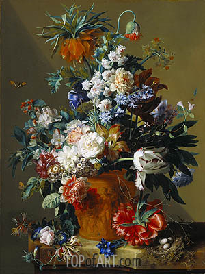 Vase of Flowers, 1722 | Jan van Huysum | Gemälde Reproduktion